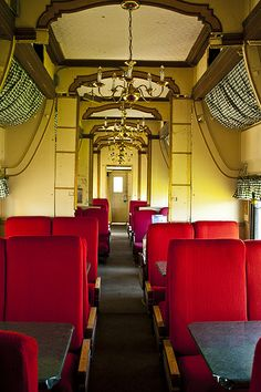 First Class travel car on an old train. Those were the days. ᘡղbᘠ  - Explore the World with Travel Nerd Nici, one Country at a Time. http://TravelNerdNici.com