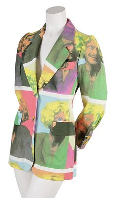 A Moschino 'It's Fun to be Bananas' Jacket, 1994, in a multicolored Franco Moschino Warhol print, with rainbow buttons at sleeve and center front, fully lined. Labeled: Cheap and Chic by Moschino.