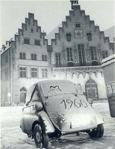1960 Frankfurt, Bmw Isetta, Maine, Germany, History, Architecture, Places, Autos, Hessen