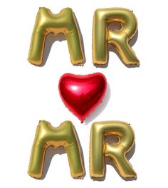 "Giant 40"" MR & MR Gay Wedding Foil Balloon Letters and Civil Partnership + LGBT"