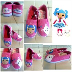 Custom Painted Shoes , Lalaloopsy Mittens