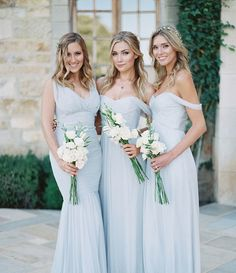 love the relaxed, elegant ook of these bridesmaid dresses and the COLOR!!!
