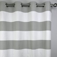 Gray White Modern Horizontal Stripe Contemporary by Zeldabelle
