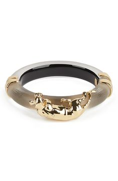 A sparkly panther in liquid-shine metal lounges atop a carved Lucite bangle that will make you feel bold and powerful. Style Name:Alexis Bittar Future Antiquity Panther Bangle. Style Number: Available in stores. Warm Grey, Alexis Bittar, Lounges, Panther, Bangles, Nordstrom, Carving, Wedding Rings, Engagement Rings