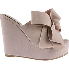 @Overstock - These wedged slip-on peep-toes from Elegant by Beston feature a rich, nude faux suede construction. A vamp ribbon on the face of these platform slip-ons gives dramatic style.   http://www.overstock.com/Clothing-Shoes/Elegant-by-Beston-Womens-Camila-2-Nude-Platform-Slip-ons/6588756/product.html?CID=214117 $36.99