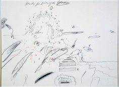 Cy Twombly Study for lives of the Gods 1961