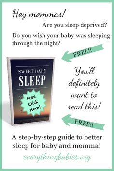 Don't we all want our babies to sleep through the night, Mommas? Follow this easy step-by-step guide to a better night's sleep for baby and moms and dads! Start by preparing the nursery for sleep, not play, then set baby up with good daytime feeding and napping habits. Add a consistent bedtime routine and everyone will be catching more zzz's at night! No more mommy zombies!