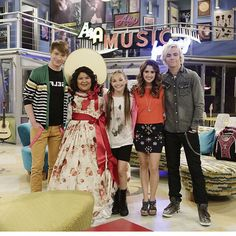 Maddie on the set of Austin & Ally