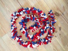 diy Patriotic fringe garland