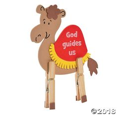 A fun kids' craft for VBS or church, this Camel Clothespin Craft Kit will remind children that God guides us. Little crafters will love building their own ...