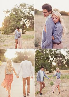 Love this lighting/look for engagement pics!! field, fun, lakeside, picnic, vintage, retro