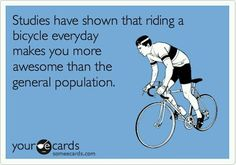 Cycling makes you awesome - funny picture