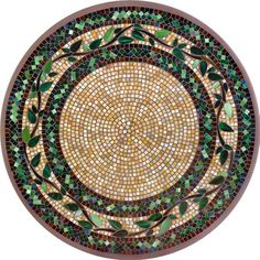 KNF Laurel Brown Mosaic Table