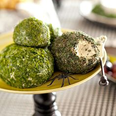 cheese balls rolled in herbs