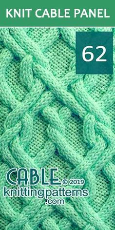 Knitted Cable Panel Pattern 62, its FREE. Advanced knitter and up.