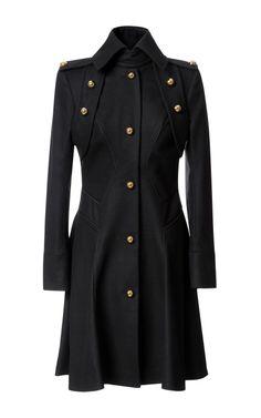 Fashion Month Must: Wool Blend Military Style Coat by Prabal Gurung - Moda Operandi