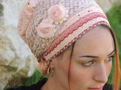 Stunning Peach tichel,Hair Snood, Head Scarf,Head Covering,jewish headcovering,Scarf,Bandana,apron