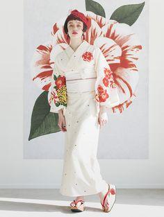 Source by ayuoki fashion Kimono Japan, Yukata Kimono, Kimono Outfit, Japanese Kimono, Kimono Fashion, Traditional Fashion, Traditional Dresses, Costumes Japan, Modern Kimono
