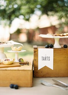 #tart bar - a gourmet spin on the classics  Photography: Ryan Ray Photography - ryanrayphoto.com Creative Direction + Styling: Lavender Joy Weddings - lavenderjoyweddings.com Floral Design: Bows + Arrows - bowsandarrowsflowers.com  Read More: http://www.stylemepretty.com/living/2013/01/16/farm-to-table-inspiration-shoot-from-ryan-ray-photography/