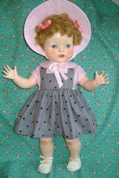 Vintage Pedigree Style 19-22in. Doll Dress * 2 + ! #Pedigree Toddler Dolls, Baby Dolls, Doll Costume, Costumes, Velvet Suit, Plastic Doll, Madame Alexander Dolls, Old Dolls, Hello Dolly