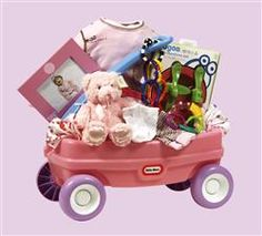 A red wagon filled with lots of unique baby gifts, this cool baby gift is called the Wagon A Go Go baby gift basket and is brought to you by Nutcracker Sweet, delivering gift baskets to the Toronto area and beyond. Sweet Delivery, Nutcracker Sweet, Gourmet Gift Baskets, Baby Baskets, Baby Girl Gifts, Princess Party, Baby Booties, Homemade Gifts, Little Ones