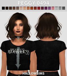 Hallow Sims: Peggy 0494 hair retextured  - Sims 4 Hairs - http://sims4hairs.com/hallow-sims-peggy-0494-hair-retextured/