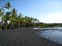 Black sand beach, Hawaii - Google Search