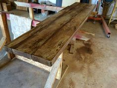 Wood Grain Concrete Countertop
