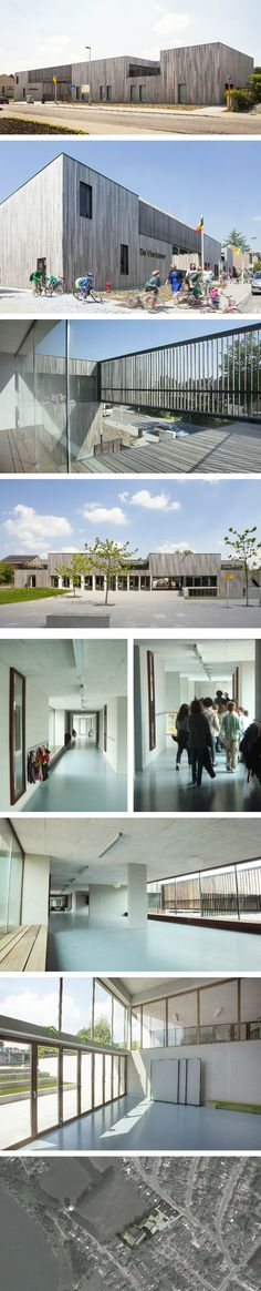 cuypers & Q - All For A School cuypers & Q cuypers & Q Learning Environments, School Architecture, Primary School, School Design, Minimalism, Kindergarten, Mansions, House Styles, Outdoor Decor