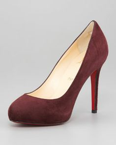 X1AYZ Christian Louboutin New Declic Suede Red Sole Pump
