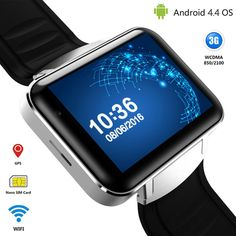 3G Android Smart Watch Phone Bluetooth Quad Core Sports Wristwatch DM98 Smartwatch Supports WCDMA GPS Wifi Whatsapp Skype 2017 //Price: $88.21//     #Gadget