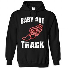 Baby Got Track - #oversized tee #country sweatshirt. SAVE => https://www.sunfrog.com/Sports/Baby-Got-Track-8912-Black-22495706-Hoodie.html?68278