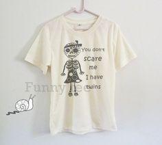 Funny skeleton tshirt toddlers boys girls clothing by TuesdayTee