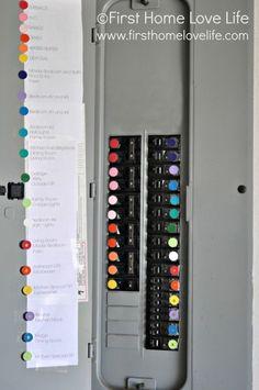 SUPER SMART IDEA! Color Coding Your Circuit Breaker Box