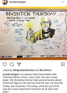 What do you feel if the greatest invention of all times? Future Classroom, School Classroom, Classroom Activities, Classroom Whiteboard, Journal Topics, Morning Board, Morning Activities, Daily Writing Prompts, Bell Work