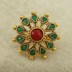 Indian Women Wedding Kundan #Ring