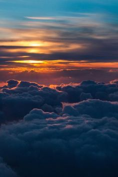 Cloud Wallpaper, Sunset Wallpaper, Nature Wallpaper, Above The Clouds, Sky And Clouds, Aesthetic Backgrounds, Aesthetic Wallpapers, Sky Aesthetic, Beautiful Sunset