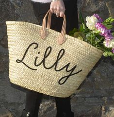 I've just found Personalised Name Straw Basket Beach Bag. A beautiful french straw basket which can be personalised.. £80.00