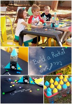 Here's a great activity for a boy birthday rocket party! See more party ideas and activities at CatchMyParty.com.