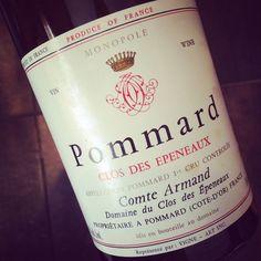 Comte Armand Pommard 1er Cru Clos des Epeneaux 1991 #dansmonverre