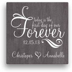 Forever Personalized Canvas Wall Art, Size: 16 inch x 16 inch, Black - My Wedding Personalised Canvas, Personalized Wall Art, Personalized Wedding Gifts, Sentimental Wedding Gifts, Customized Gifts, Wedding Signs, Wedding Favors, Wedding Ideas, Diy Wedding Gifts