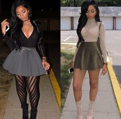 Which outfit is your favorite? (First photo) Bodysuit: Voted Most popular bodysuit in black… Sexy Outfits, Classy Outfits, Stylish Outfits, Fall Outfits, Fashion Outfits, Black Women Fashion, Look Fashion, Autumn Fashion, Birthday Outfit For Women