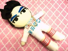 Kpop BlockB B-Bomb plushie plush toy doll HER mv by kirbychan. For more kpop goodies and kpop fan made plushies please visit my KpopStore!