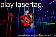 Bachelor Party Idea  -- Play laser tag