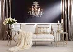 Rich, plush luxurious home decor. Living room