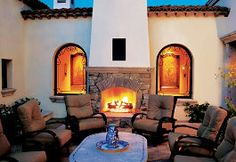 with fireplace