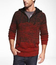 Ombre Marled Hooded Sweater - Express Men