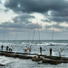 Fishing is  a  well spread  hobby  Alexandria Egypt.