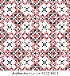 Scandinavian Seamless Pattern Stock Vector (Royalty Free) 90694426 Scandinavian, Bohemian Rug, Royalty Free Stock Photos, Cross Stitch, Illustration, Pattern, Pictures, Cross Stitch Embroidery, Vectors