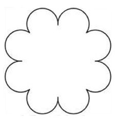 Molde de flor de eva - Como Fazer Paper Flower Patterns, Paper Flower Art, Fabric Flower Tutorial, Tissue Paper Flowers, Felt Flowers, Flower Crafts, Fabric Flowers, Anniversaire Hello Kitty, Flower Template